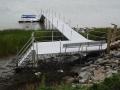 Adjustable Stair w Stationary Alummikon dock , a floating dock and a kayak rack
