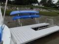 Floating Dock w Kayak Rack