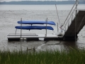 Gangway, floating dock, kayak rack